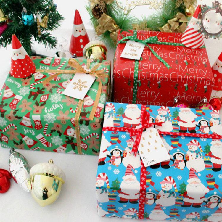 Professional Kunden Luxus Phantasie Design Weihnachten Thema Grün Druck Geschenk Verpackung Papier