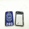 Free Shipping Zeta Phi Beta Embroidery Woven Travel Luggage Labels Tags