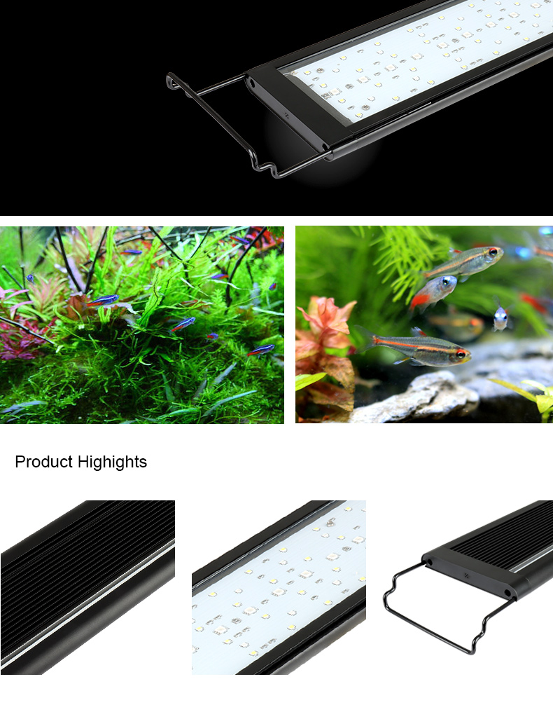 "Fish Tank Led lamp Aquarium 48"" Marine Water Lamp With App Light"