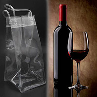 Wholesale top handle clear pvc plastic wine cooler bags