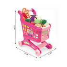 Best selling classic educational plastic shopping cart toy with vegetables