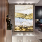 Gold Art Abstract landscape art canvas painting acrylic paintings on canvas modern wall pictures wall art home decor large