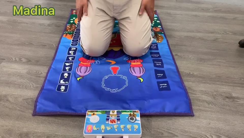 Musulmán islámico alfombra de oración para la meditación Mat culto peregrinación manta alfombra Vintage islámica de alfombra de oración