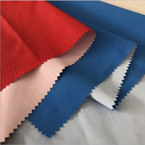 228T 100% nylon taslan tessuto impermeabile con rivestimento in PU latteo per piumino