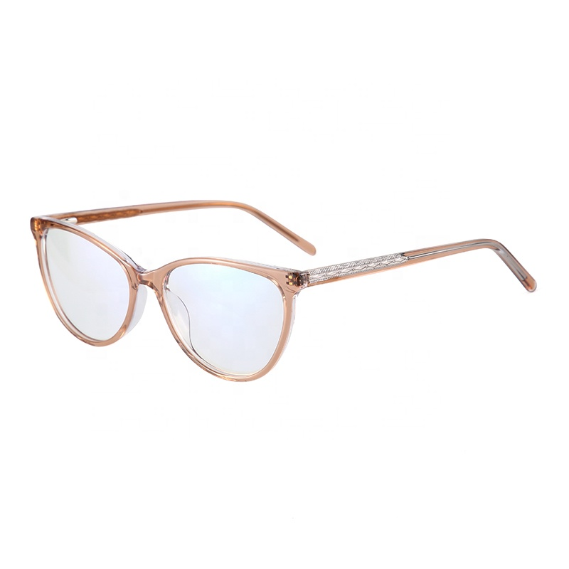 Attractive colorful translucent eyeglass wholesale cat eye optical frames
