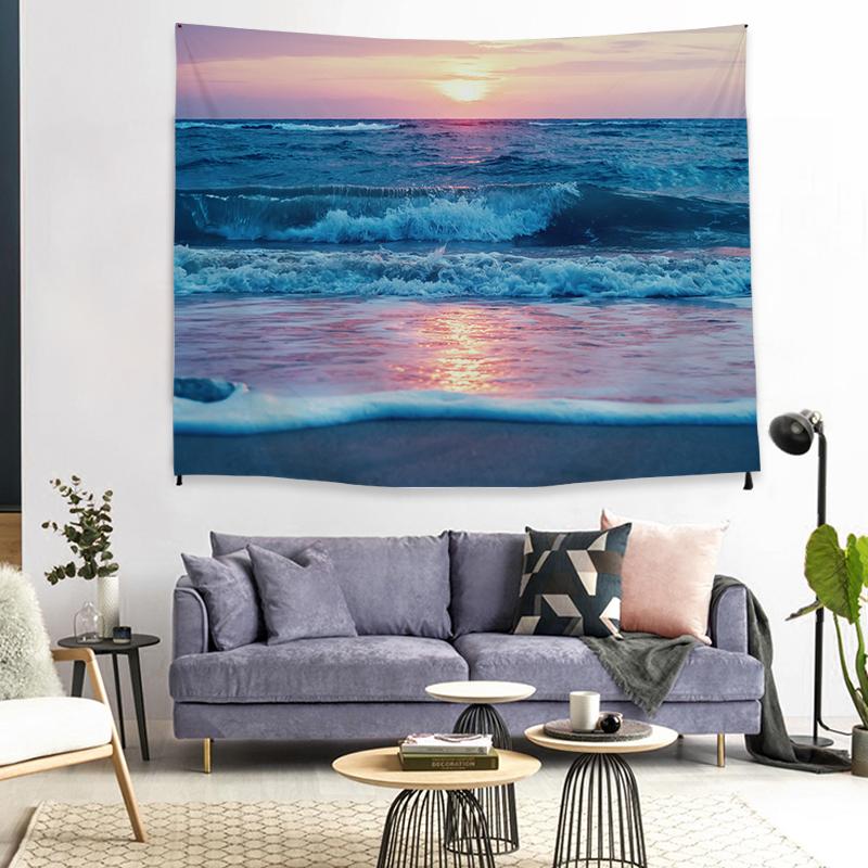 Изысканные украшения дома стене висит в богемном стиле природа вид Полиэстер Пляжные гобелены кокосовой пальмой гобелен