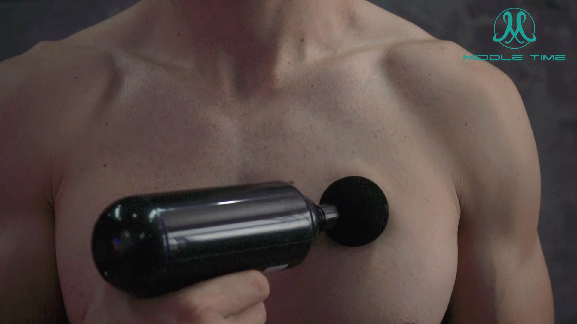Amazon cep 16 mm genlik ağrı kesici gevşeme 6 hız ekleri spor Mini masaj tabancası