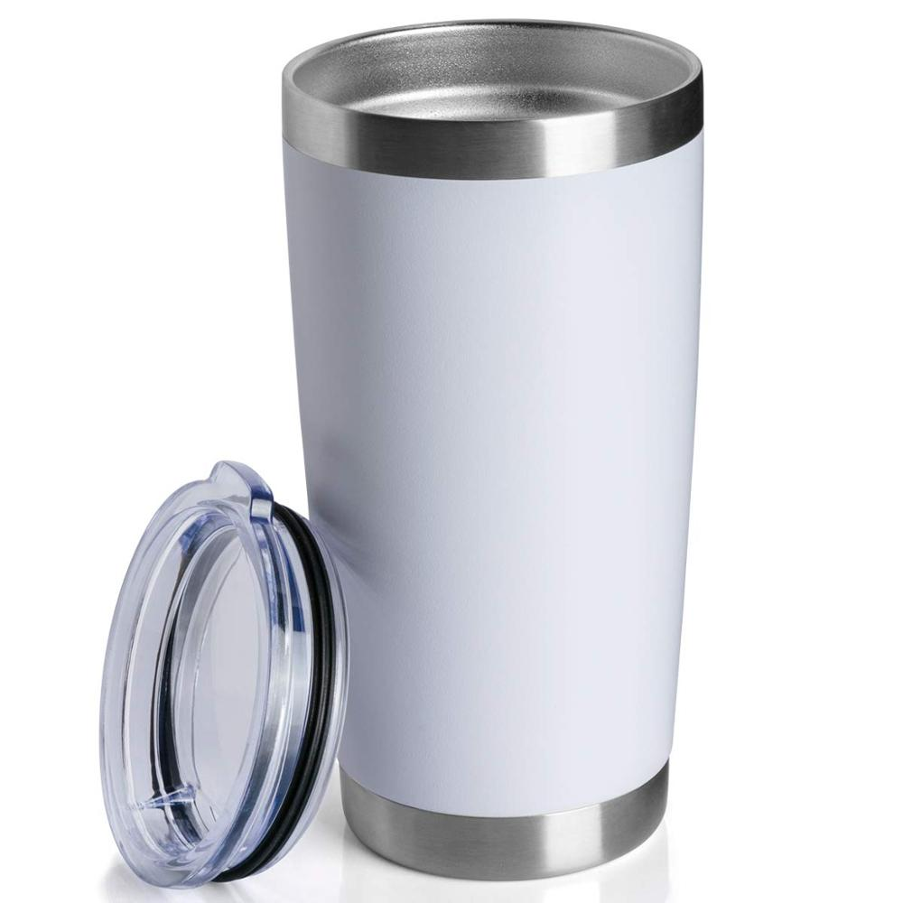 20 oz 30 oz Double Wall Vacuum Insulated Travel Mug Coffee Cup - Durable Powder Coated Stainless Steel Tumbler
