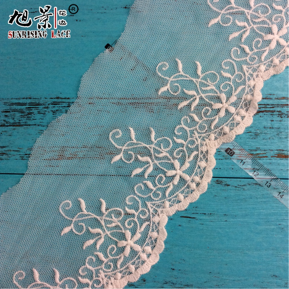Garment Latest French Lace Flower Net Lace
