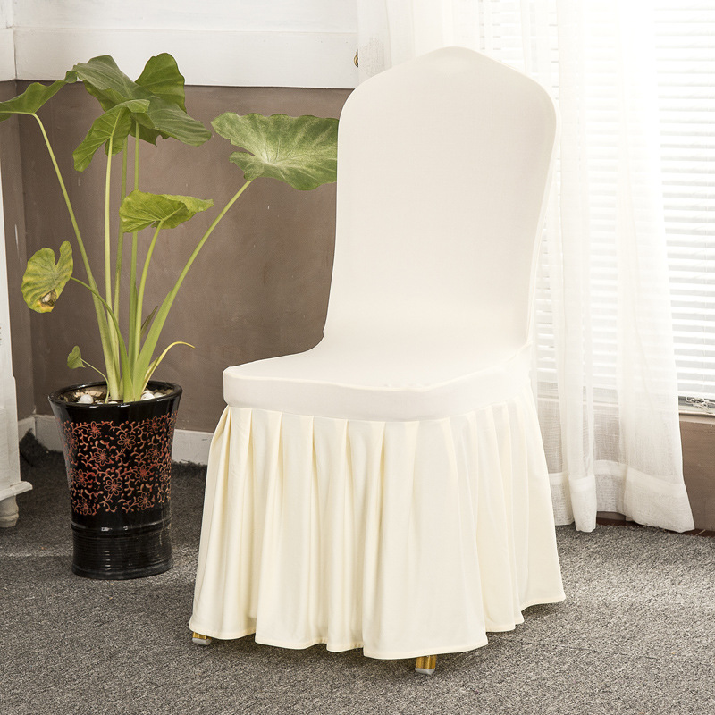 Free sample high quality spandex dinning white saucer chair cover wedding decoration