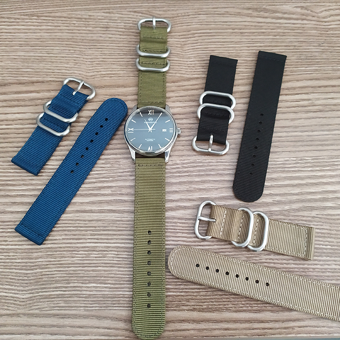 Zulu Strap Buckle 2 PC Strap 20mm 22mm Custom Nylon Nato Strap For Apple Watch Watch Bands
