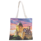 Wholesale customized logo printed Reusable promotion 100% natural cotton canvas tote shopping bag