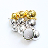 Wholesale 925 sterling silver accessory smooth surface magnetic clasp in sphere shape for bracelet and necklace making