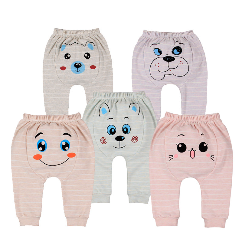 Hot Selling New Style Knitted Fabric Pants Baby Hallen Pants Children's baby clothes branded brands wholesale Baby pants 0-3 yea
