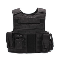Black police military supplies tactical bullet proof vest body armor