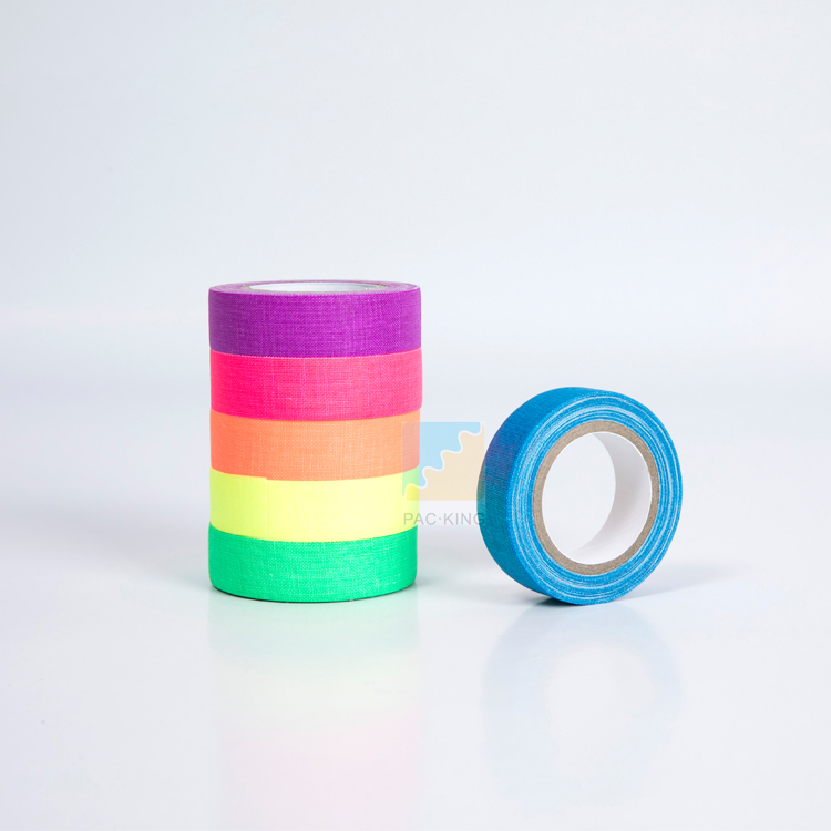Free Samples UV Blacklight Reactive Neon Fluorescent Duct Gaffer Tape for Party Decoration