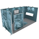 Aluminum Profile Exhibition Booth Aluminum Profile Modern Custom Design Expo Stand Simple Install Exhibition System Booth