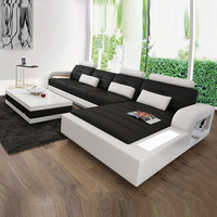 Italian style genuine leather sofa set l shape real leather sofa