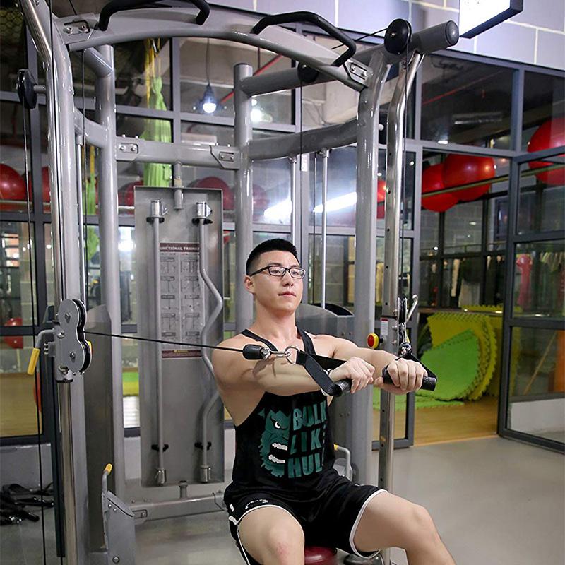 Upgrade Heavy-Duty Rumah Kebugaran Gym Aksesoris Tarik Menangani Resistance Band Rolling Menangani