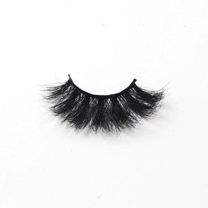 High Quality Private Label 25mm Eyelashes Various Thickness Real 5D Mink Eyelash