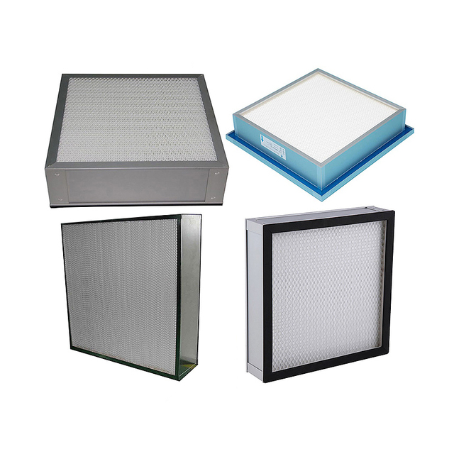 Custom Aluminum Frame HVAC Plate Air Conditioning Industrial Hepa & Ulpa Air Filter Replacement H13 H14 for Air Purification