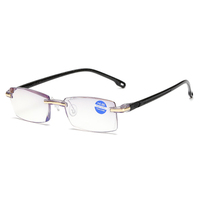 High quality Vintage Fashion Rimless Cheap price Women Men Square reading glasses