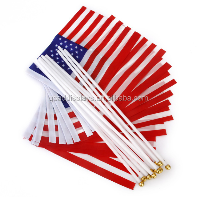 Custom Logo 4''x6'' Hand Held Falg 8''x12'' 12''x18'' Hand Flags for Advertising Promotion
