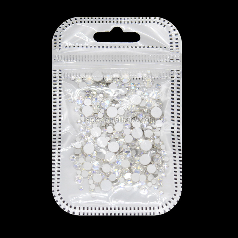 Hotsale Glass Nail Rhinestones Mixed Size Nail Art Decoration Stones DIY Nail Decorations