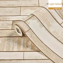 1 рулон Водонепроницаемый Винтаж кафе обои креативная студия Реалистичная деревянная панель эффект Наклейка на стену(Китай)