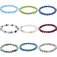 European and American explosion models 8MM natural emperor stone Morgan men and women stone bracelet