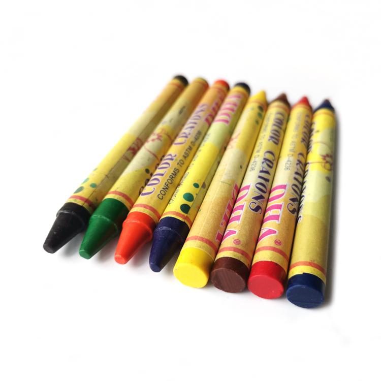 Fábrica de 3.5 polegadas 8 pack Art Set Hexagonal Multi Cor Crayon