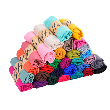 New fashion solid color candy color cotton and linen monochrome muslim hijab scarf cotton