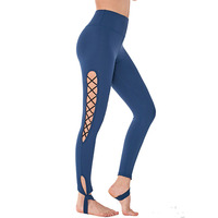 Women High Waist Floral Compression Gym Fitness Jogger Body Shaping Leggings