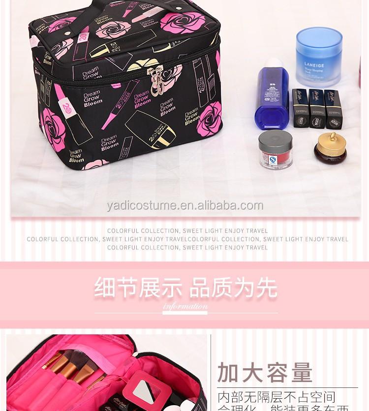 2020 Filles portatives À Lèvres Carré Motif Imprimé Sac Cosmétique De Maquillage De Voyage Essentiels Organisateur De Maquillage À Glissière Pochette Trousse de toilette Sac