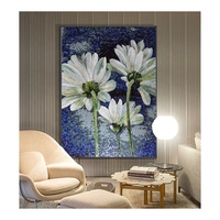 Top-grade art mosaic tiles murals pattern flower mosaic puzzle customize glass mosaic from a picture