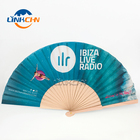 promotional spanish folding wood hand fan for gift