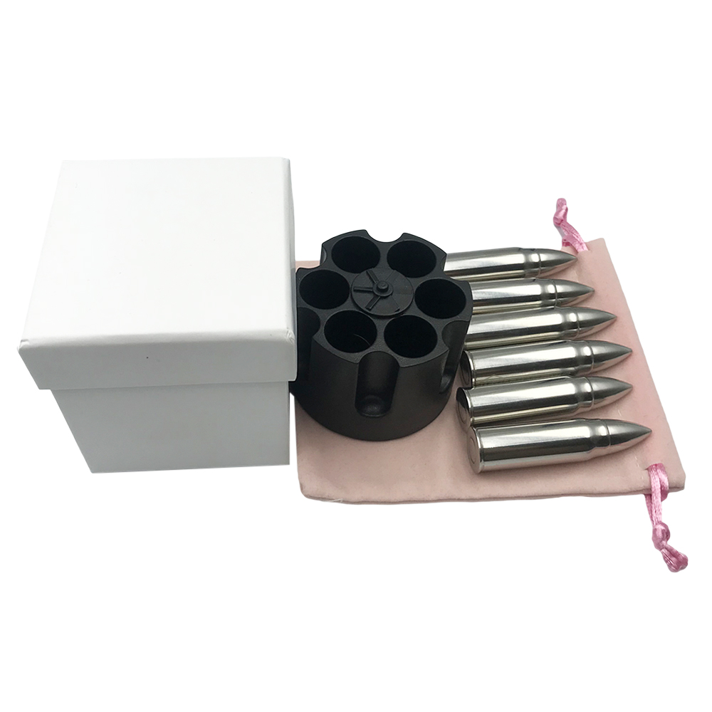 US Amazon Top Seller bullet ice cube and stainless steel bullet shaped ice cube set and Whiskey bullet stone gift set