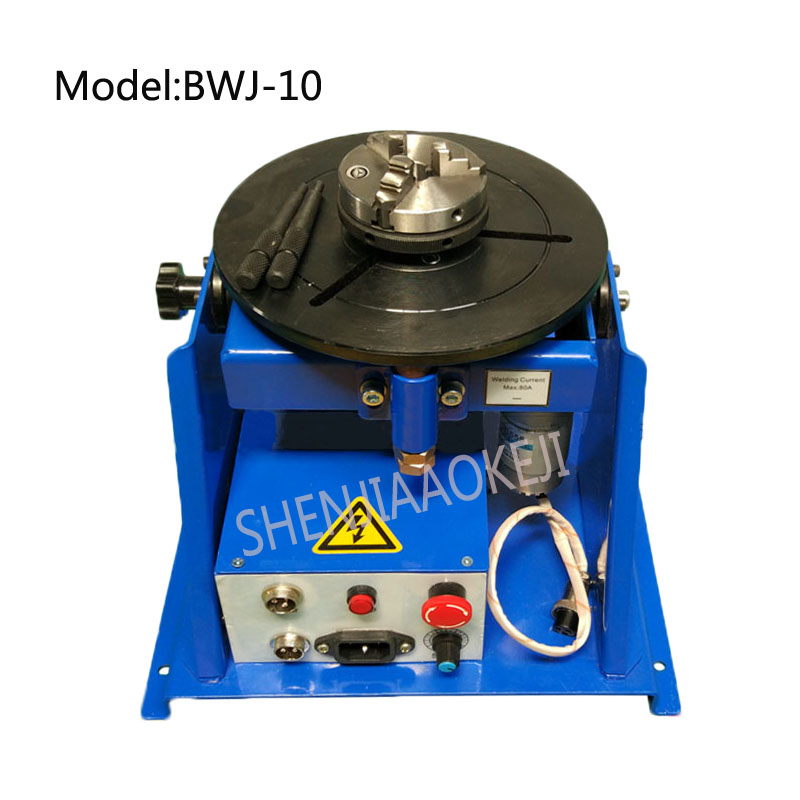 BWJ-10 <strong>welding</strong> positioner stainless steel automatic precision argon arc <strong>welding</strong> with 65 chuck turntable 220V 15W