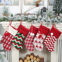 Drop Ship Large Christmas Stockings Gifts Cloth Santa Socks Xmas Lovely Gift Bag For Children Candy Bags Christmas Decoration