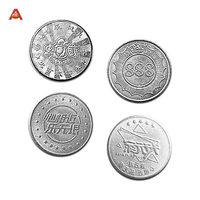 Custom Stainless Favor Supplies Metal Coins Zinc Alloy Magic Game Coin