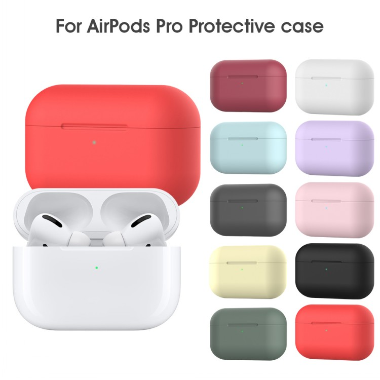 ultra thin silicone Case for apple airpods pro wireless earphone Protection Cover TWS headset earbud box for Airpods pro case
