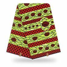 Африканская новая желтая 100% хлопковая оригинальная восковая ткань 2020 африканская ткань с принтом для свадебного платья африканская ткань(Китай)