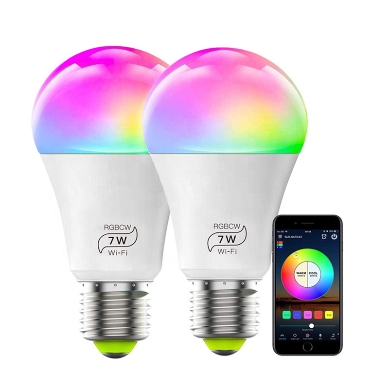 <strong>Smart</strong> <strong>led</strong> lamp A60 wifi control <strong>led</strong> <strong>bulb</strong> light support Amazon Alexa and Google Home