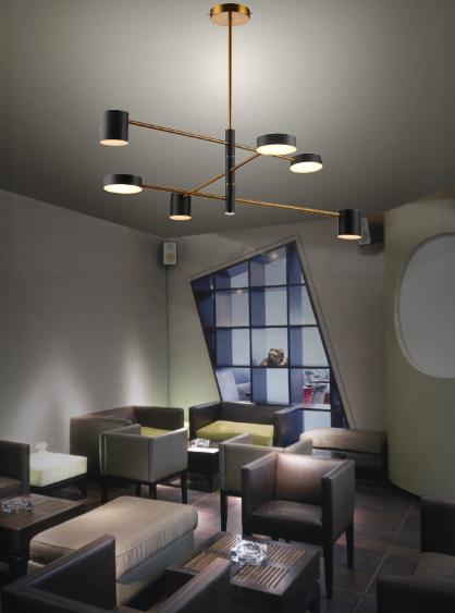 الحديثة الفاخرة الأنيقة الذهب قلادة مستديرة ضوء جميل جودة عالية قلادة LED الخفيفة