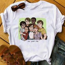 Женская летняя повседневная футболка harajuku с короткими рукавами, винтажная Готическая летняя мягкая Эстетическая Одежда для девочек(Китай)