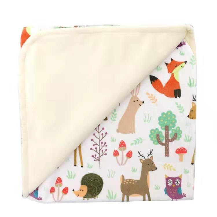 100% polyester bébé minky couvertures extérieures imperméables pour l'hiver