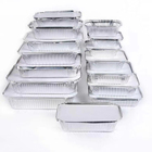 popular disposable heatable aluminium foil food container