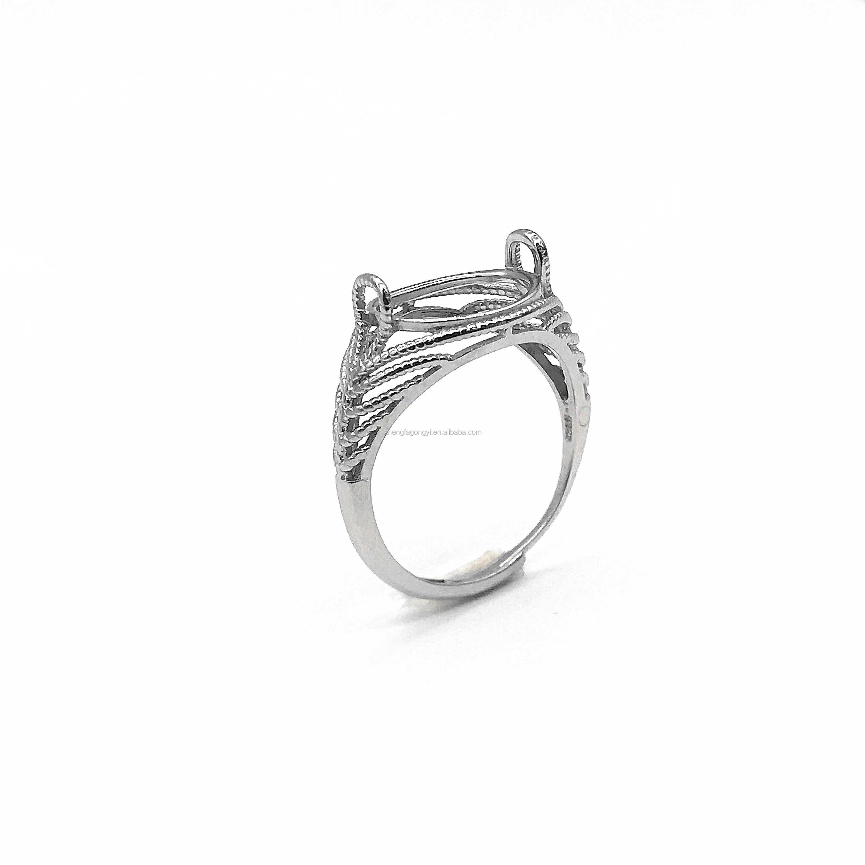 mounting ring with stone in 925 sterling silver for men
