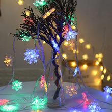 10 м 100 светодиодный 220 в EU Рождественская гирлянда 6 м Батарея Вспышка снежные хлопья светодиодный гирлянда сказочные огни для вечерние укра...(Китай)