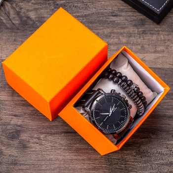 Hot Selling Creative Men's Gift Set Exquisite Packed Watch + Bracelet Set  Creative Combination Set